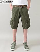 AOLONGQISHI® Men's Casual Pure Shorts Pants (Canvas/Cotton) 0613
