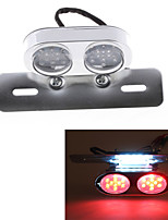 Motorcycle 25 LED Tail License Plate Rear Red White Light DC 12V Universal Clear (1 Pc)