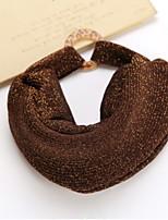 Women Korean Gold And Silver Line Flash Silk Wide Elastic Headband
