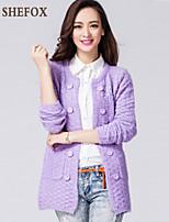Women's Casual/Work Stretchy Medium Long Sleeve Cardigan (Knitwear)SF7B54