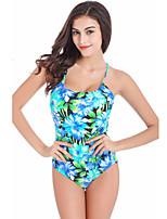 Women's Summer Floral Print One Piece Swimsuit