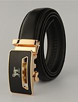 Men Leather Waist Belt , Casual Alloy