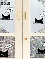 Wall Sticker Wall Decals, Cartoon Black Cat PVC Wall Stickers