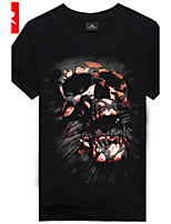 Men's Casual/Sport Print Short Sleeve Regular T-Shirt (Cotton/Cotton Blend)