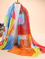 HOT sale Women's fashion new graffiti print 30D chiffon scarves, scarves shawls