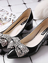 Women's Shoes  Chunky Heel Pointed Toe Pumps/Heels Casual Black/Silver/Burgundy