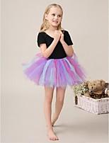 Flower Girl Dress - Baile Mini Sem Mangas Algodão/Tule