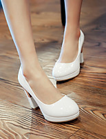 Women's Shoes Stiletto Heel Heels/Round Toe Pumps/Heels Office & Career/Dress Blue/White/Beige
