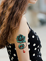 5Pcs Waterproof Color Rose Flower Pattern Temporary Body Art Tattoo Sticker