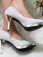 Women's Shoes Glitter Stiletto Heel Heels Pumps/Heels Wedding/Party & Evening/Casual Silver