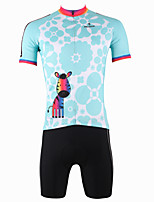 Cycling Jersey Set Short Sleeve Blue Cycling Clothes With Cycling Tops+Padded Shorts Jersey