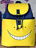 Assassination Classroom Yellow Canvas Cosplay Backpack Bag
