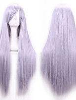 New Anime Cosplay Long Straight Hair Wig 80CM Silver