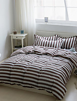 Coffee Cotton/Polyester King Duvet Cover Sets