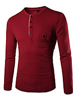 Men's Long Sleeve T-Shirt , Cotton Casual/Sport Pure