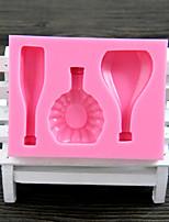 botella de vino molde de silicona chocolate fondant vidrio europeo, herramientas de decoración para hornear