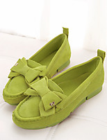 Women's Shoes Faux Leather Flat Heel Espadrilles/Square Toe Loafers Casual Green/Purple/Red
