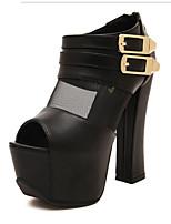 Women's Shoes Platform Peep Toe/Platform Sandals Casual Black/White
