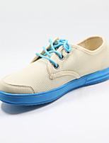 Scarpe Donna - Sneakers alla moda - Casual - Comoda - Piatto - Sintetico - Blu / Beige