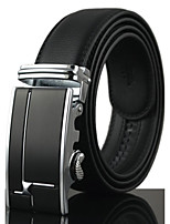 Men's Genuine Leather Waist Belt Fashion/Business/Dress/Casual Black Belts