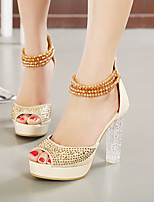 Women's Shoes Synthetic Chunky Heel Peep Toe Sandals Dress More Colors available