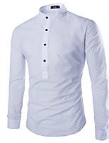 Men's Casual/Work/Formal Long Sleeve Regular Shirt (Cotton)