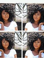 In Stock 10-28inch 130% Density Kinky Curly Natural Color 100% Brazilian Human Hair Wig Full Lace Wigs