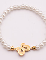 The Bride's Stainless Steel Imitation Pearl Bracelet