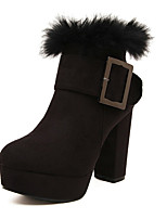 Women's Shoes  Chunky Heel Styles Boots Casual Black
