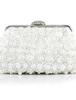 Handbag Silk/Imitation Pearl/Polyester Evening Handbags/Clutches With Imitation Pearl/Pearl