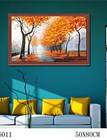 bricolage peinture à l'huile numérique de grande taille sans famille trame peinture amusant tout seul feuille d'érable 6011