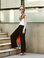 Women's Vintage Casual Micro-elastic Short Sleeve Suit (Cotton)