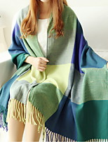 Women National Wind Tartan Design Scarf Shawl