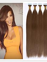 PU Skin Weft/Tape In Hair Extension Virgin Human Hair Keratin Fusion Capsule Hair 2.5G/PC 20PCS 50G/Lot In Stock