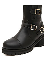Women's Shoes  Chunky Heel Fashion Boots/Round Toe Boots Casual Black/Brown