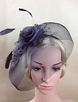 Women Fabric Headband , Party / Casual Rose Veils Headpiece