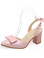 Women's Shoes Chunky Heel Pointed Toe Pumps DressWith Bowknot More Colors Available