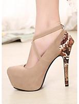 Women's Shoes  Stiletto Heel Heels/Round Toe Pumps/Heels Casual Neutral