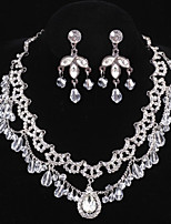Elegant Design Alloy With Rhinestone Wedding/Special Occaision / Party Jewelry Set.