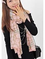 Women Pink Cute Polka Dot Warm Scarf Pashmina