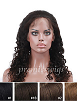 10''-24'' Brazilian Curly 100% Indian Remy Virgin Human Hair Wigs Full Lace Wigs With Baby Hair For Blacek Women