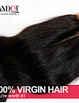 Malaysian Silk Base Closure Body Wave Size 4x4 Natural Black Free Middle 3 Part Virgin Human Hair Silk Lace Top Closures