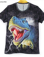 Hot New Fashion Men's Animal 3D Print Punk Gothic Short Sleeve T-Shirt Hip-hop Tops(M-XXL)
