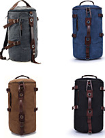 Cylinder Portable Shoulder Diagonal Canvas Retro Outdoor Sports and Leisure Riding Mountaineering Shoulder Bag