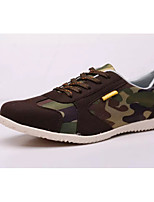 Men's Shoes Casual Fabric Fashion Sneakers Blue/Brown
