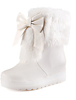Women's Shoes  Wedge Heel Snow Boots/Round Toe Boots Dress/Casual Black/White/Orange