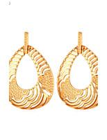U7® Women's 2015 New Trendy 18K Real Gold/Platinum Plated Sexy Hollow Teardrops Dangle Earrings