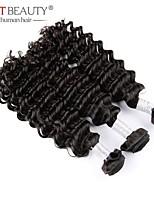 3pcs Lot 100% Brazilian Virgin Hair Deep Curly Wave Human Hair Extensions Natural Black Hair Weave