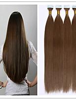 Straight PU Skin Weft/Tape Hair Fusion Hair Extension Virgin Keratin Capsule Hair 2.5G/PC 20PCS 50G/Lot In Stock