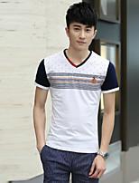 T-shirt Uomo Casual Con stampe Manica corta Licra